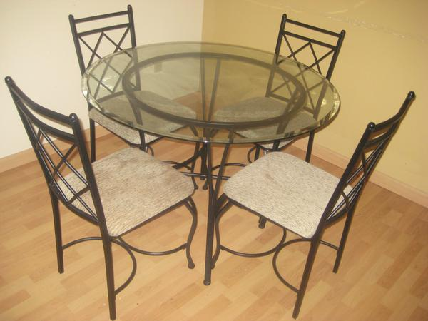 Mainstays 5-Piece Glass Top Metal Dining Set - Dining room ideas