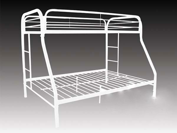 twin full metal bunk bed frame white